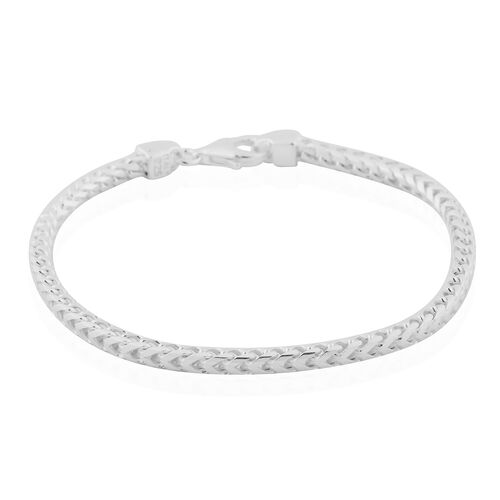 Made in Italy - Sterling Silver Franco Bracelet (Size 8), Silver wt 10.68 Gms