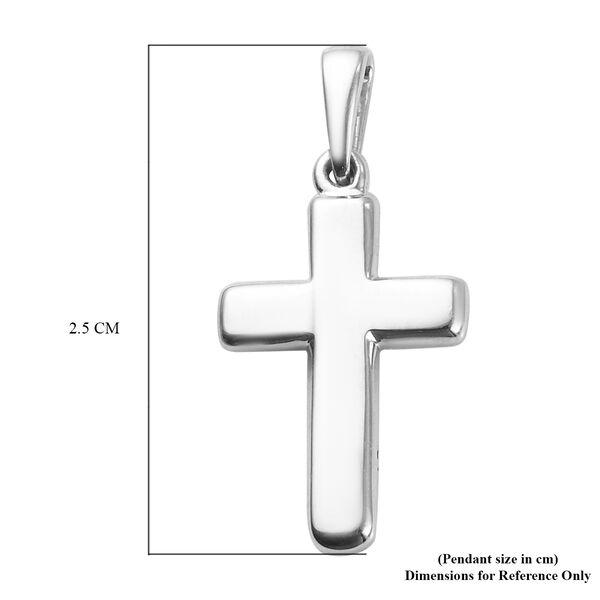 RHAPSODY 950 Platinum Plain Cross Pendant in Supreme Finish