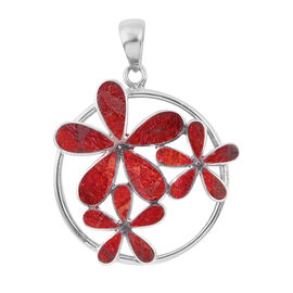 Royal Bali Collection - Sponge Coral Floral Pendant in Sterling Silver
