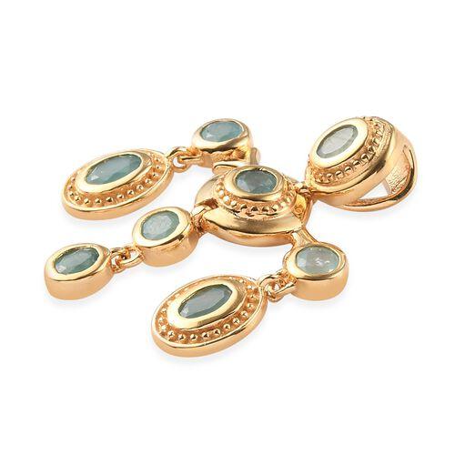 Grandidierite Pendant in 14K Gold Overlay Sterling Silver 1.45 Ct.