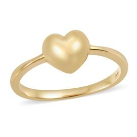 Mini Heart Promise Ring in Gold Plated Sterling Silver
