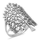 Designer Inspired- Sterling Silver Tree Ring (Size O)