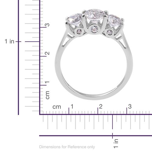 J Francis - 9K White Gold (Rnd) Ring Made with SWAROVSKI ZIRCONIA