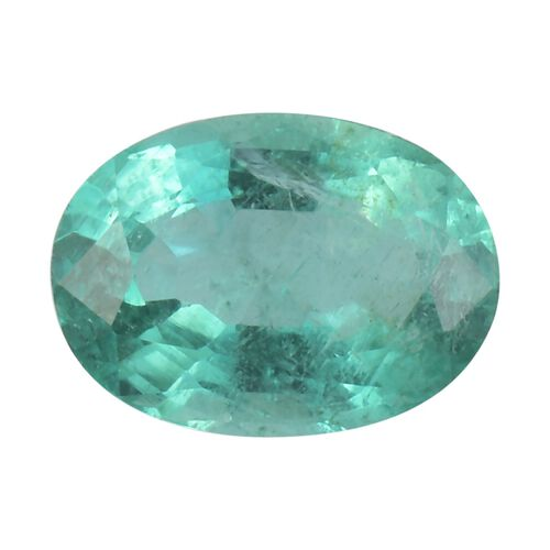 AA Emerald Oval 7.08x5.12x3.36 Faceted 0.61 Cts
