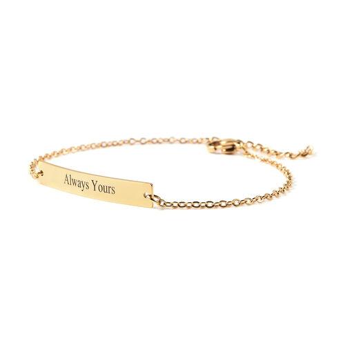 Personalise Engravable Bar Bracelet, Size 6.5+1.5 Inch