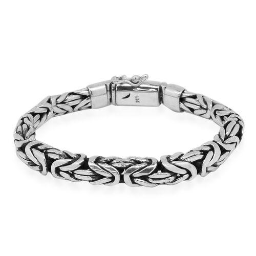 Royal Bali Collection Sterling Silver Borobudur Bracelet (Size 7.5), Silver wt. 51.47 Gms.