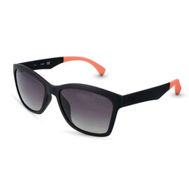 GUESS Black Wayferer Sunglasses with Grey Lenses and Pink Tips