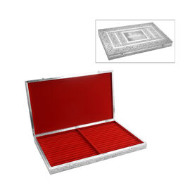 Horse Embossed Ring Storage Box with Red Velvet Lining (Size 56x33x5 Cm)
