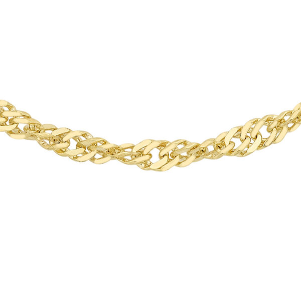 9K Yellow Gold Twisted Curb Chain (Size 16), Gold wt 3.00 Gms