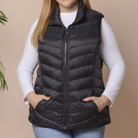 Winter Padded Gilet in Classic Black - Size: XL (22-24)