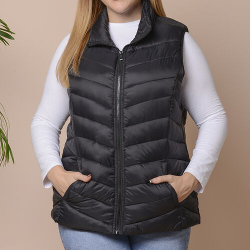 Winter Padded Gilet in Classic Black - Size: S (10-12 )