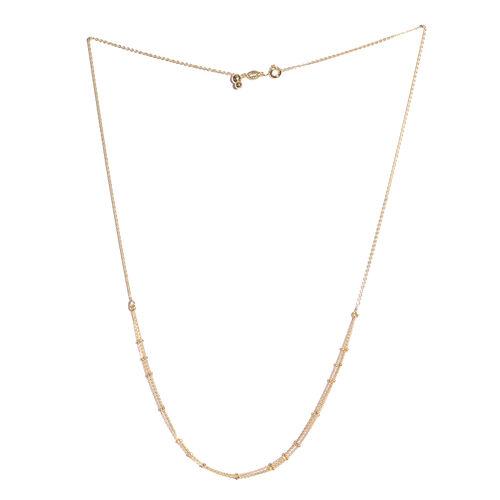 14K Gold Overlay Sterling Silver Adjustable 3 Strands Beads Necklace (Size 20)