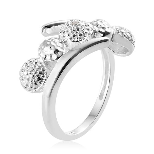 Diamond (Rnd) Ring in Sterling Silver, Silver wt 3.01 Gms.