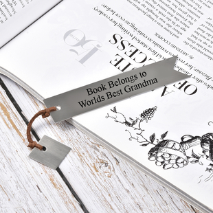 Personalised Engravable Book Mark