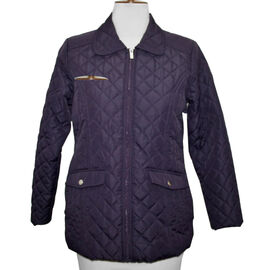 SUGAR CRISP Padded Quilted Jacket - Plum