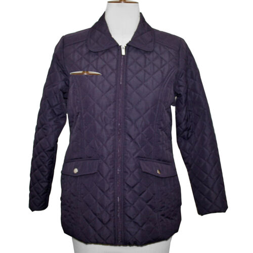 SUGAR CRISP Padded Quilted Jacket (Size 16) - Plum