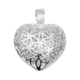 Designer Inspired- High Polished Heart Pendant in Sterling Silver Silver Wt 5.91 Grams