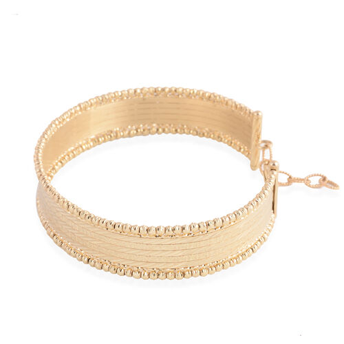 JCK Vegas Collection - Made in Italy- 9K Yellow Gold Bangle (Size 7 to 8) Gold Wt 11 Grams