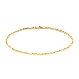 9K Yellow Gold Rope Chain  Bracelet (Size 7.5) ,  Gold Wt. 0.95 Gms