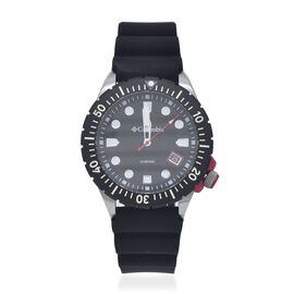 Columbia Pacific Outlander Black 3-Hand Date Black Silicone Watch
