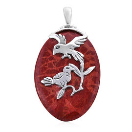 Royal Bali Collection Sponge Coral Humming Birds Pendant in Sterling Silver