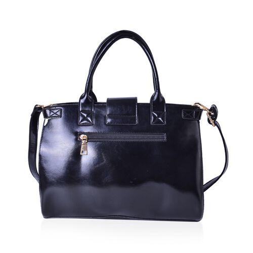 Wilton Leopard Pattern Tote Bag with External Zipper Pocket and Removable Shoulder Strap (Size 35.5x26x14 Cm)