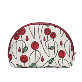 SIGNARE - Tapastry Collection - Rose Cosmetic Bag ( 21 x 14 x 7 Cms)