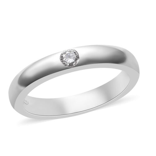 RHAPSODY 950 Platinum IGI Certified Diamond (Rnd) (VS/E-F) Band Ring.Platinum wt 7.00 Gms