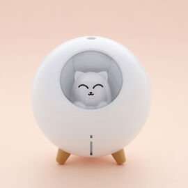 The Fifth Season - Cute Planet Cat Humidifier with 10ml Lavender Fragrance Oil and Colour Changing L