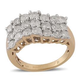 14K Yellow Gold Natural Diamond (I1/H-I) Ring 2.00 ct, Gold Wt. 6.50 Gms