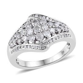9K White Gold SGL Certified Diamond (Rnd) (G-H/I3) Ring 1.00 Ct.