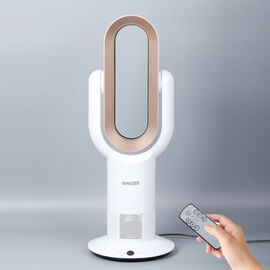 ANZHELUO Bladeless Tower Air Fan with Remote Control (Size 26.42x16x71.63cm) - Gold & White