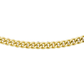 9K Yellow Gold Diamond Cut Curb Chain (Size 16), Gold wt 3.60 Gms
