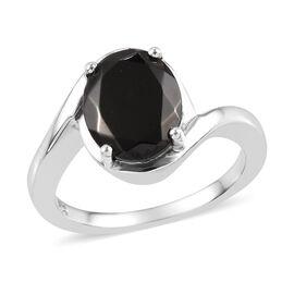 Elite Shungite (Ovl) Ring in Platinum Overlay Sterling Silver 1.500  Ct.
