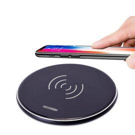 Smart Wireless Charging Pad (Size 10x10cm) - Black