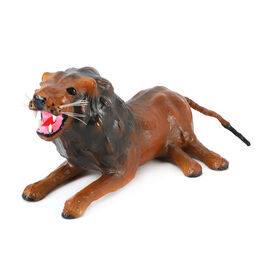 Home Decor - Handcrafted Leather Lion (Size 20x38 Cm)