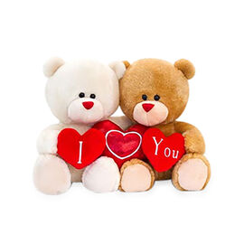 Keels Toys: Hugging Pipp the Bear with Hearts - 20cm