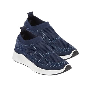 Hopful Slip on Trainers in Navy