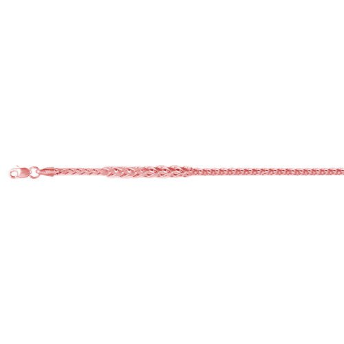 Vicenza Collection 9K Rose Gold Spiga Necklace (Size 50 inch), Gold wt 12.19 Gms.