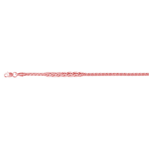 Vicenza Collection 9K Rose Gold Spiga Chain (Size 20), Gold wt 5.07 Gms.