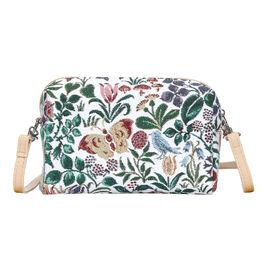 SIGNARE  - Tapestry Collection -Spring Flower Shoulder Hip Bag           (20x13x7cm)