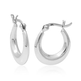 Creole Hoop Earrings with Clasp in Sterling Silver 3 Grams