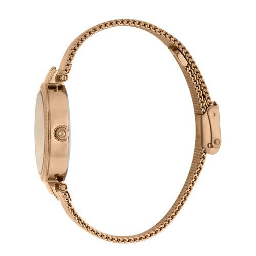 Just Cavalli Animalier Japanese Movement Ladies Bracelet Watch in Rose Gold Tone