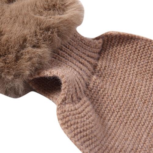 Faux Fur Scarf (Size 10x88cm) - Brown