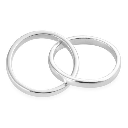 Sterling Silver Forever Criss Corss Ring, Silver wt. 5.14 Gms.