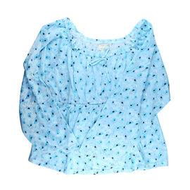 2 Piece Set - Amanda Paige Blue Colour Knit Pyjama and Long Sleeve Top