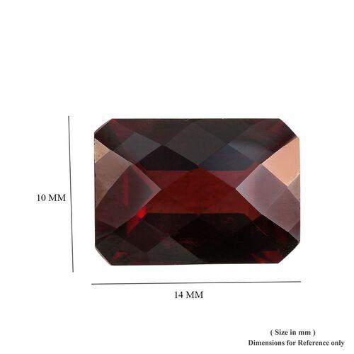 AAA Red Garnet Octagon 14x10 Checkerboard 7.90 Cts