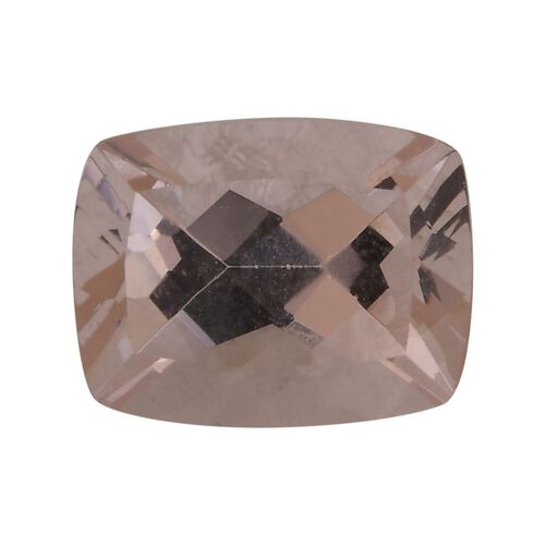AAA Pink Morganite Cushion 9x7 Faceted 1.90 Cts