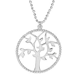 Sterling Silver Tree of Life Necklace (Size 18)