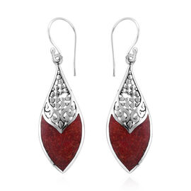 Royal Bali Collection Sponge Coral Hook Earrings in Sterling Silver, Silver wt 3.00 Gms.